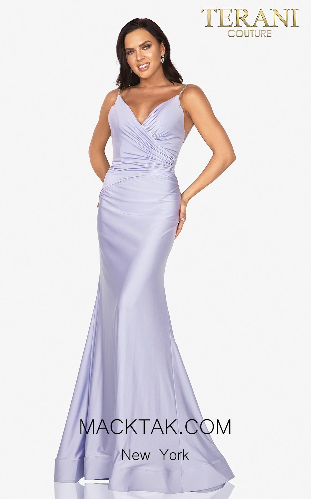 Terani 2011P1235 Lavender Front Dress