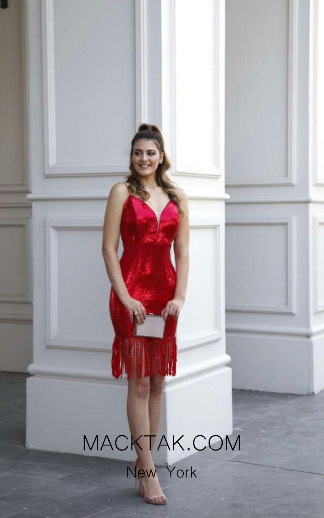 TK AS125 Red Evening Dress