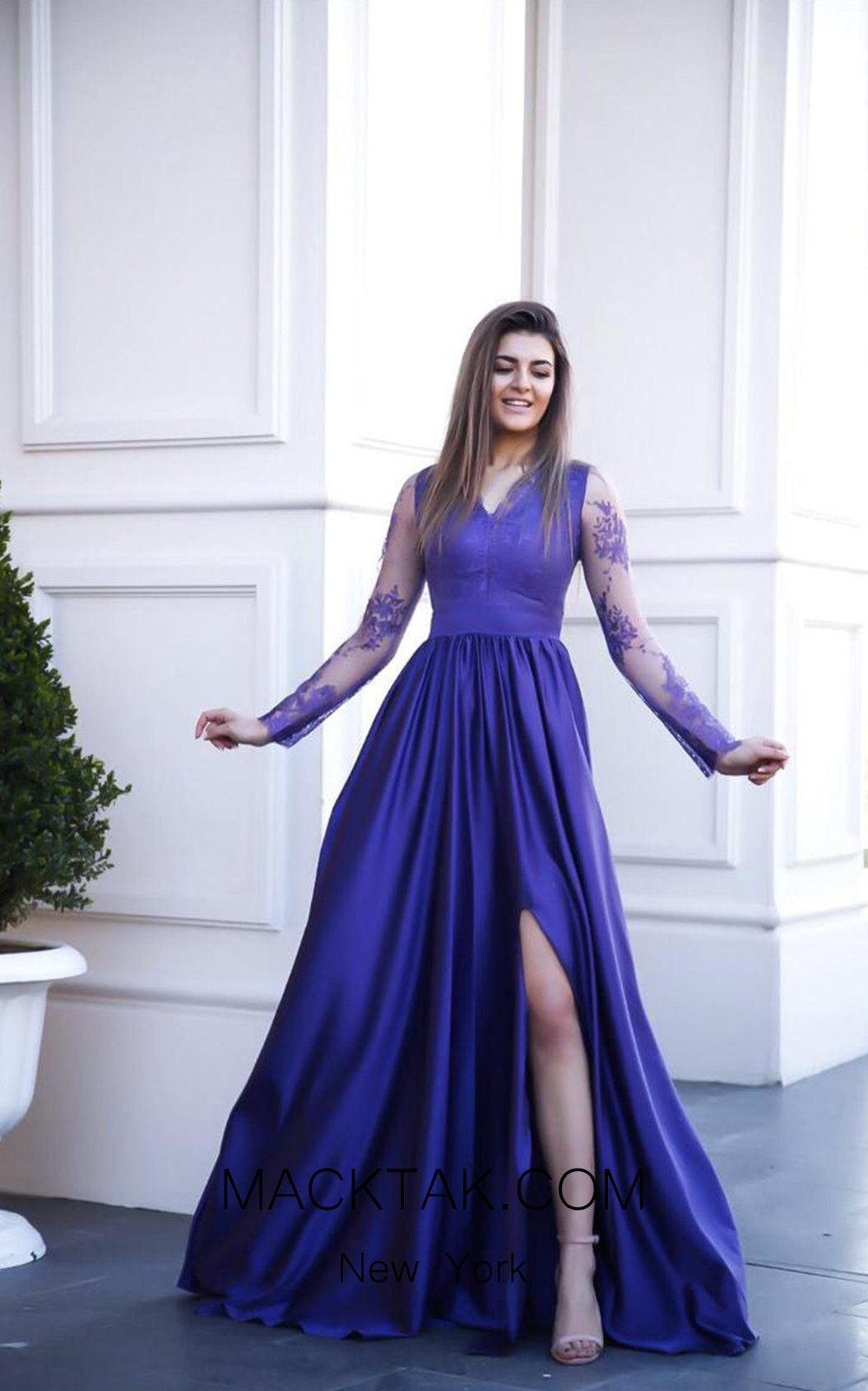 TK AS130 Blue Evening Dress