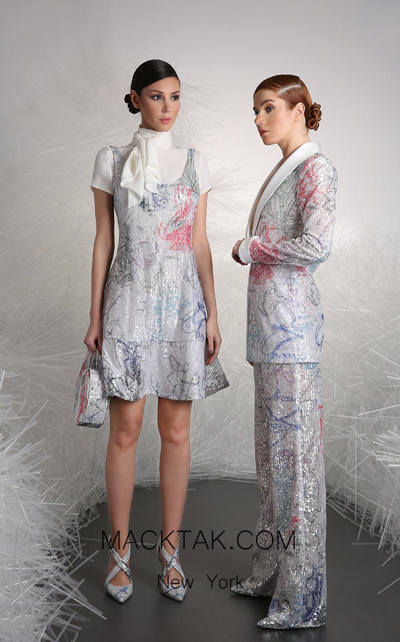 Tony Ward 9A Multi Front Evening Dress