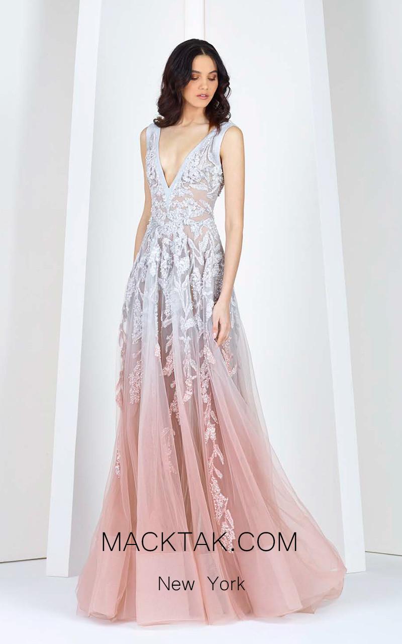 Tony Ward FW09 Pink Front Evening Dress
