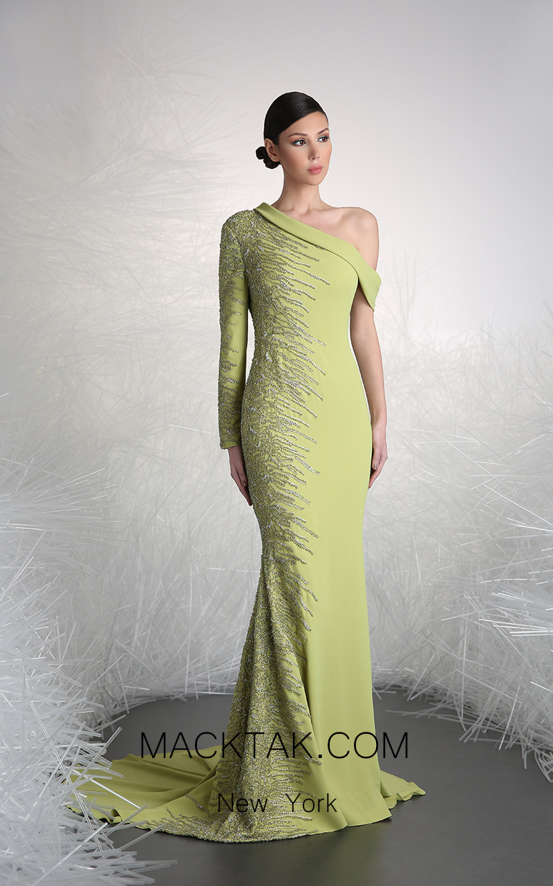 Tony Ward FW45 Green Front Evening Dress