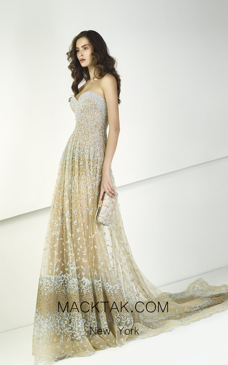 Tony Ward TW08 Gold Front Evening Dress