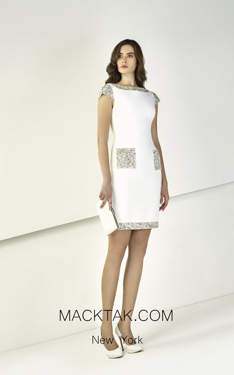 Tony Ward TW29 White Front Evening Dress