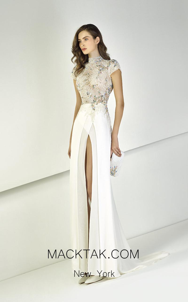 Tony Ward TW30 Cream Front Evening Dress