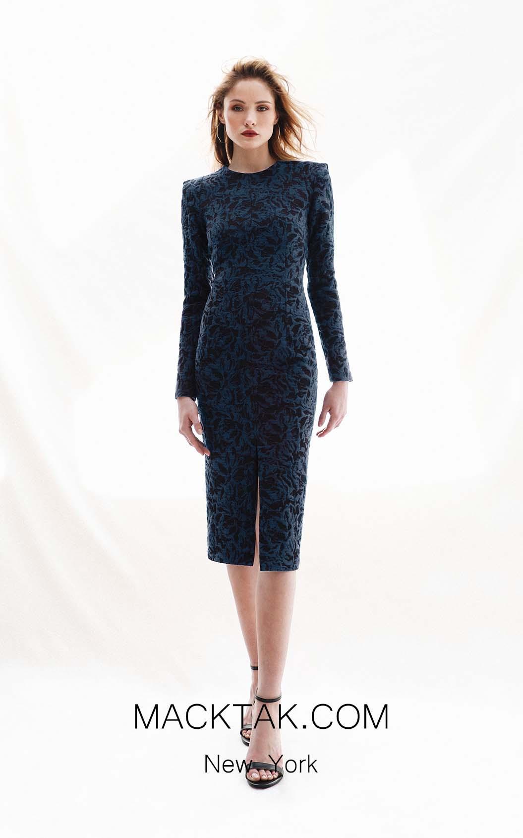 Victoria Jayna Dark Blue Front Dress