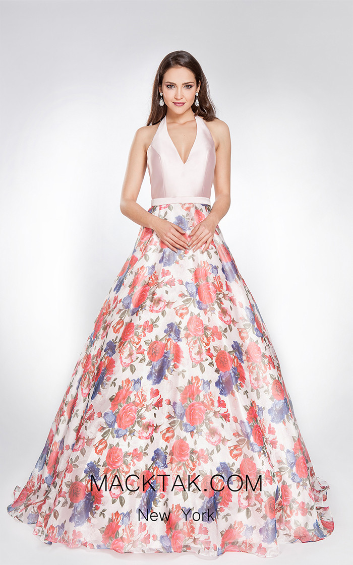 X & M Couture 49015 Pink Front Evening Dress