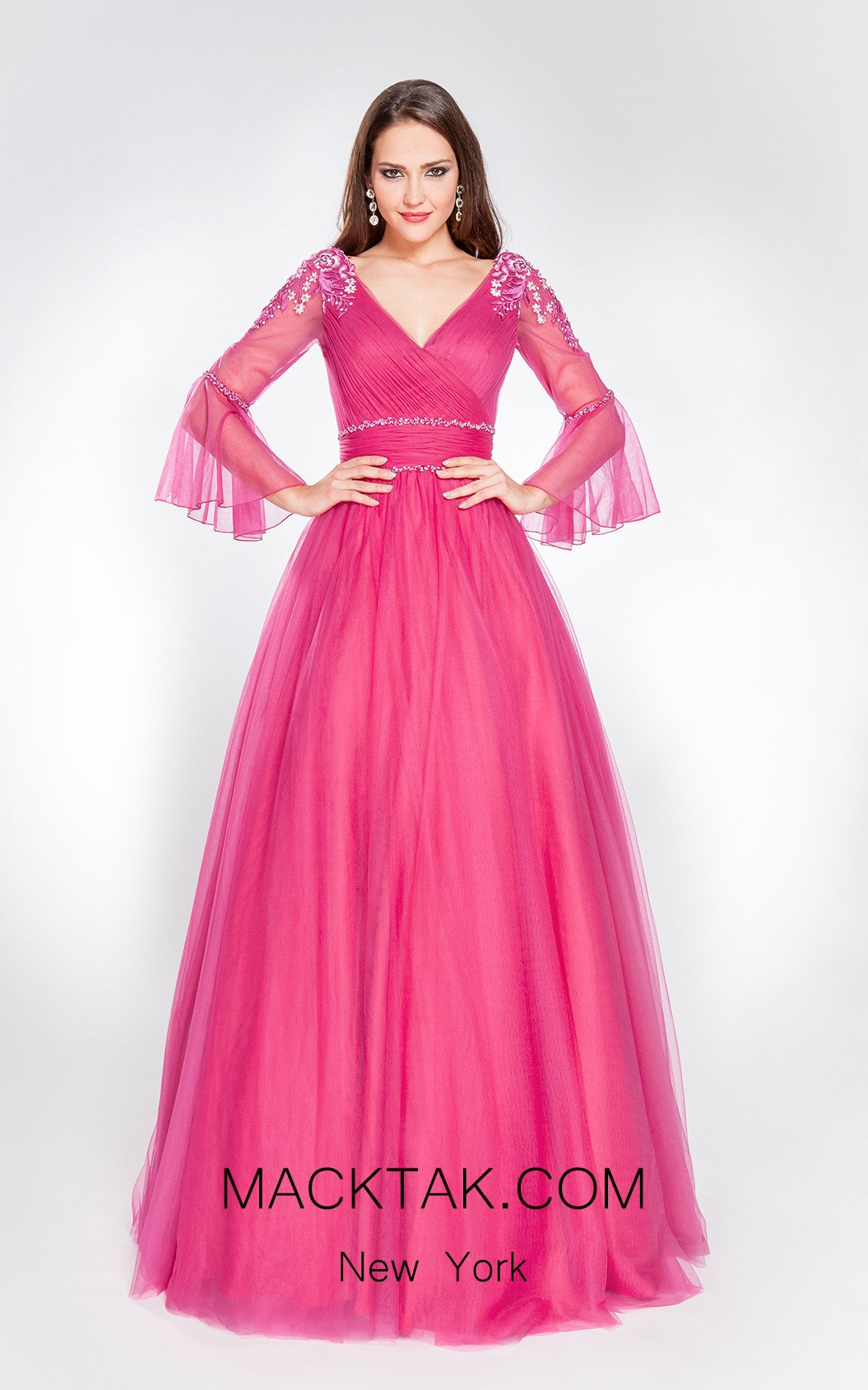 X & M Couture 49071 Front Evening Dress