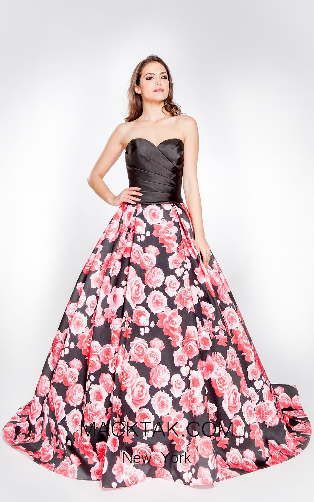X & M Couture 8004 Front Evening Dress