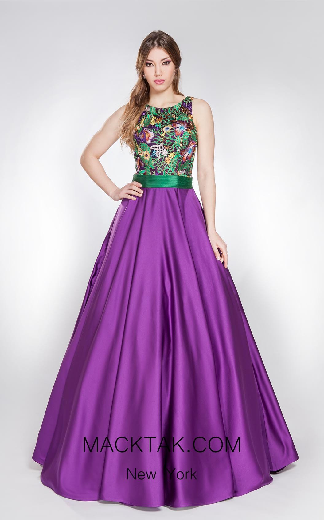 X & M Couture 8024 Front Evening Dress
