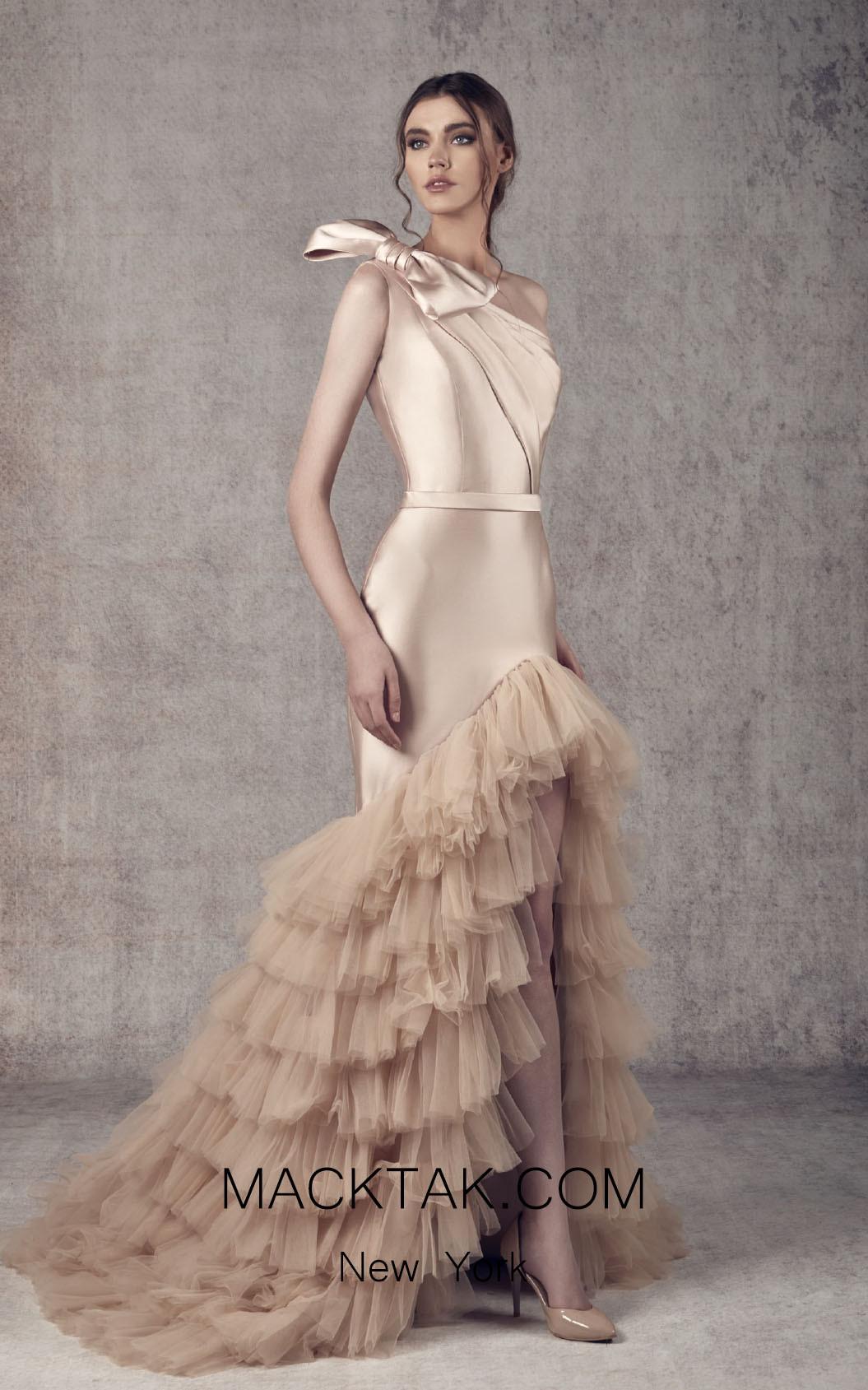 Ziad Germanos ZG12 Skin Front Evening Dress
