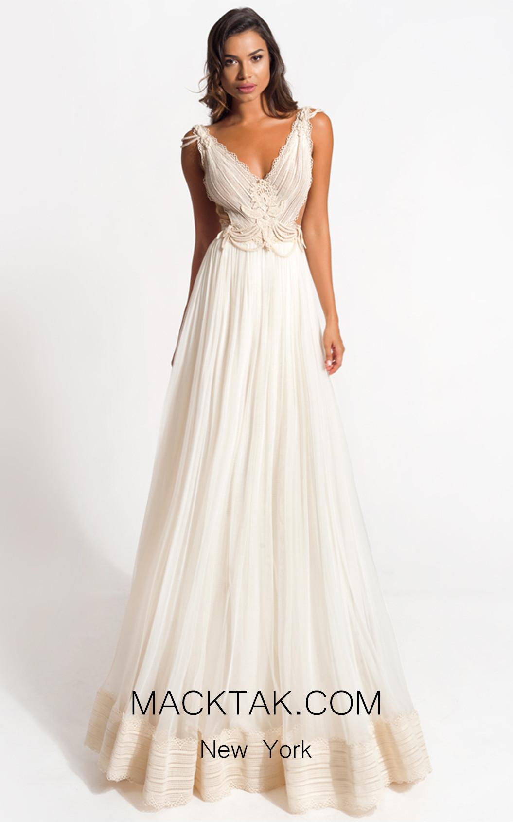 Zolotas Atelier Aegle Front Evening Dress