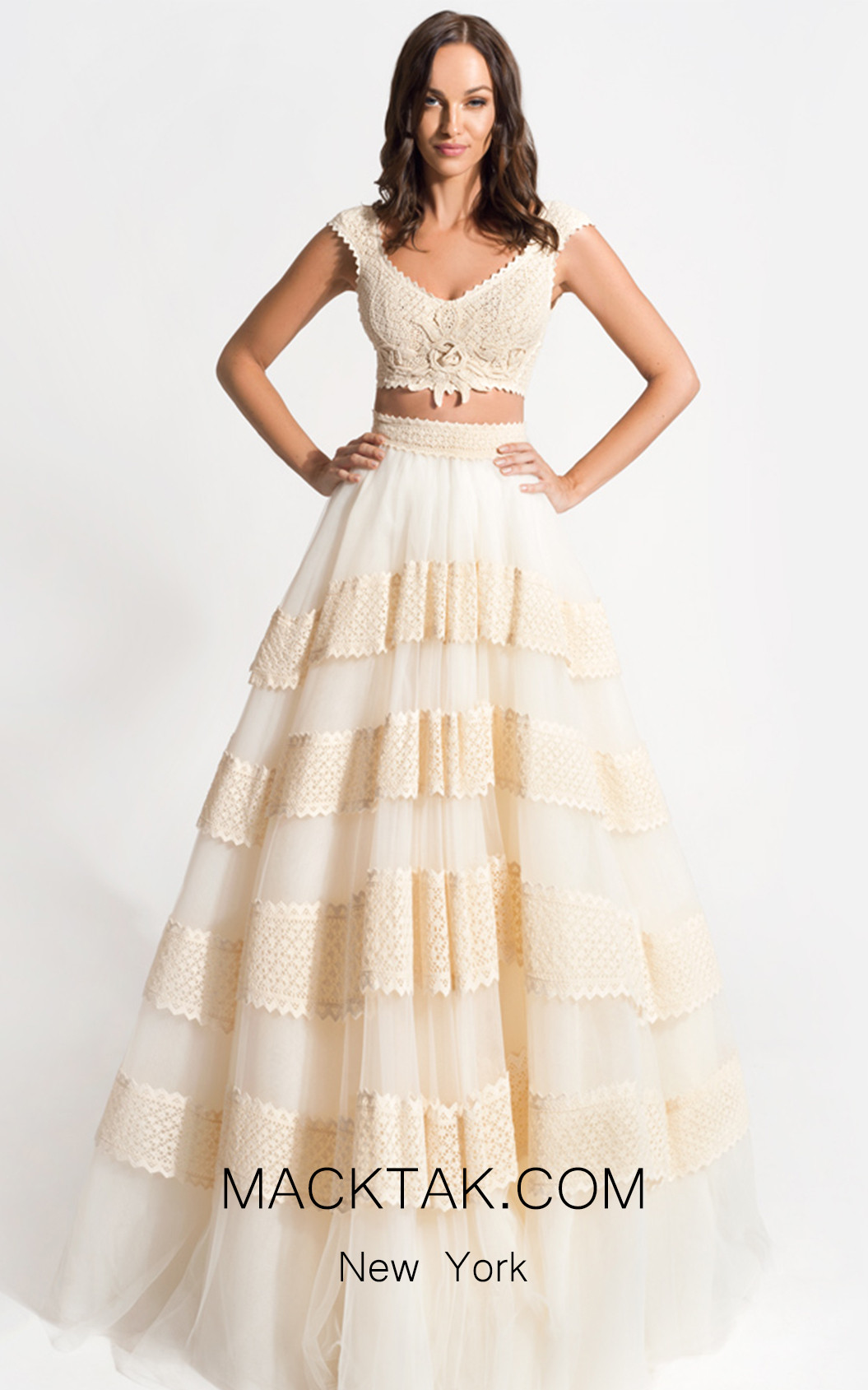 Zolotas Atelier Alcyone Front Evening Dress