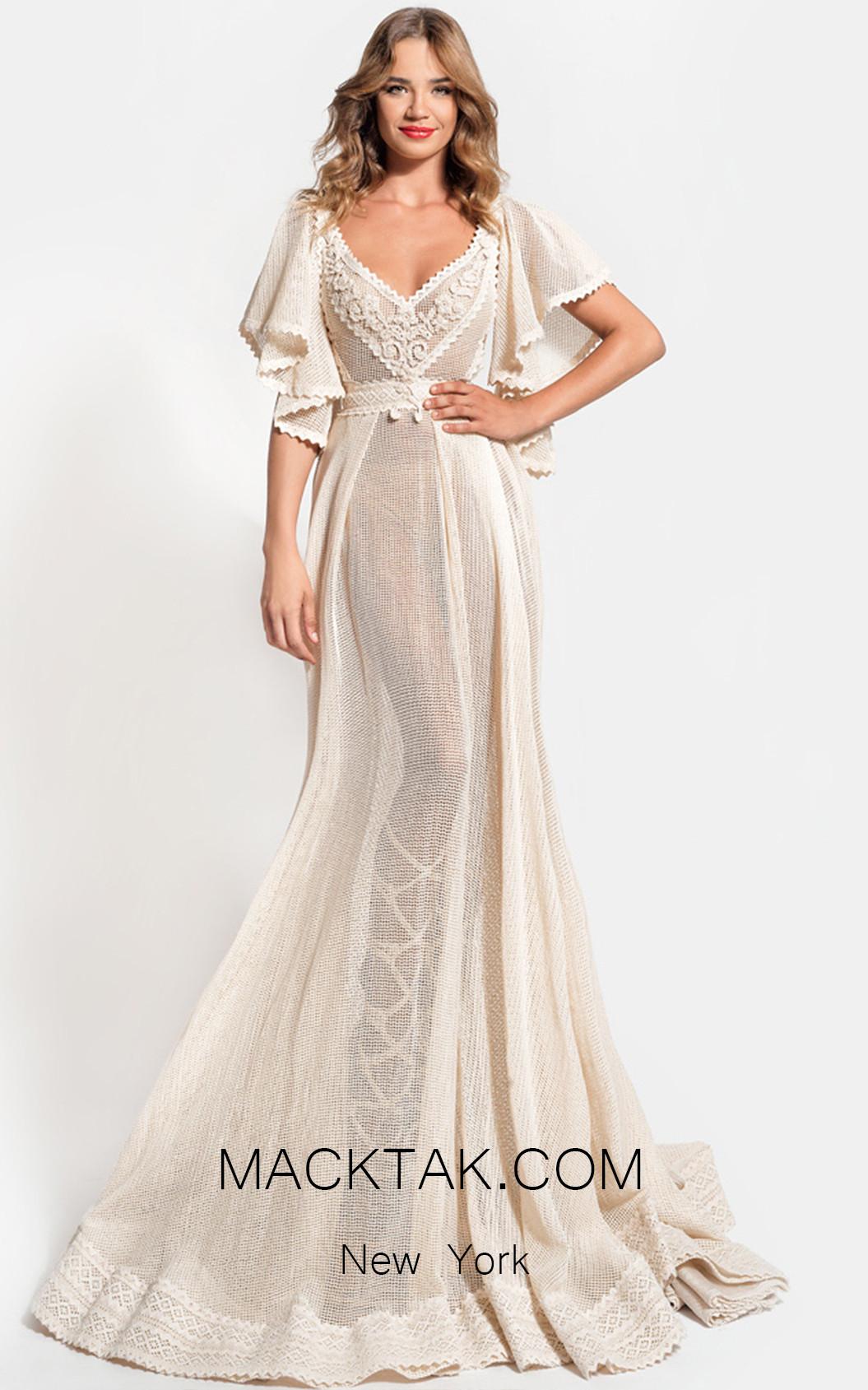 Zolotas Atelier Amalthea Front Evening Dress