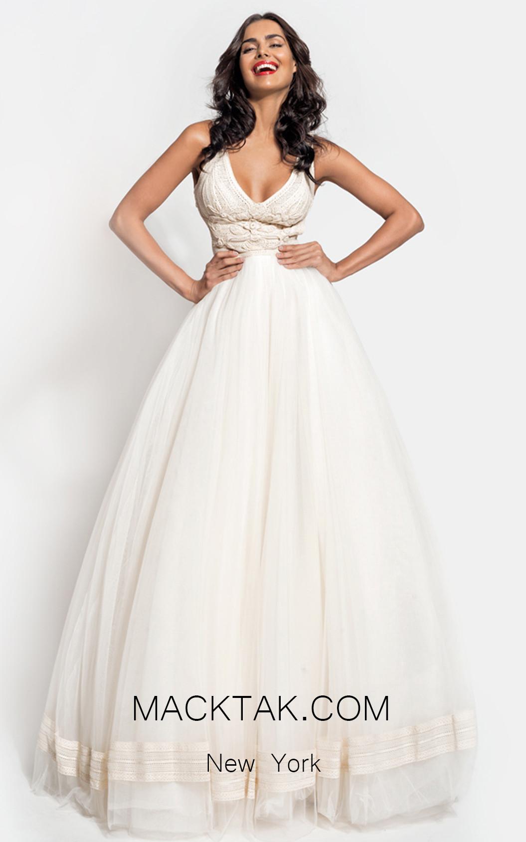 Zolotas Atelier Maera Front Evening Dress