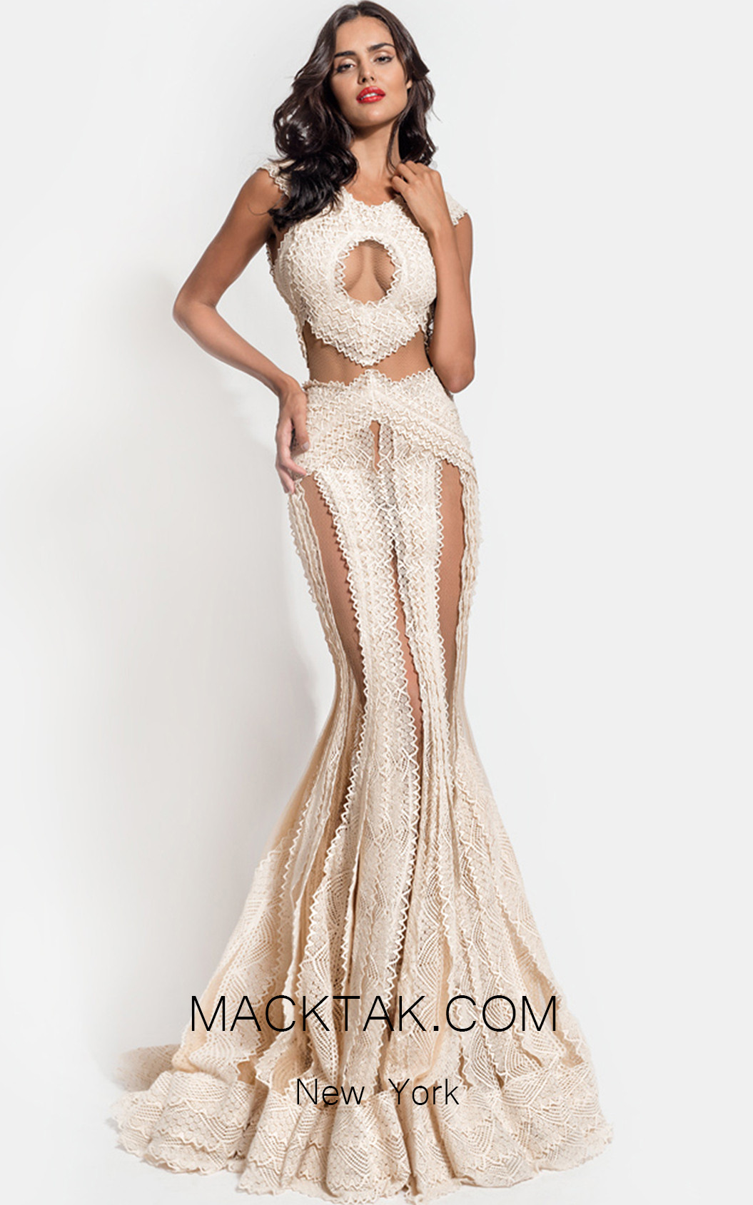 Zolotas Atelier Mayia Front Evening Dress