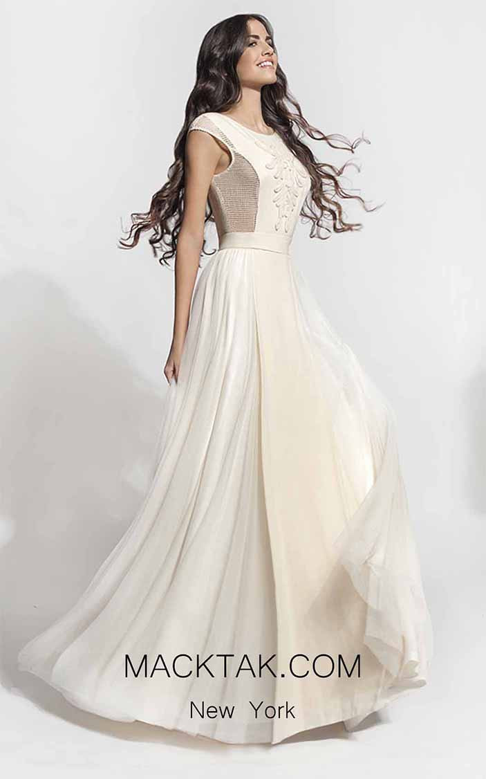 Zolotas Atelier Dione Front Evening Dress