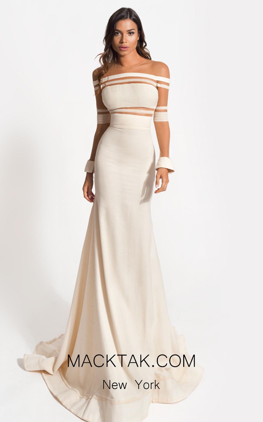 Zolotas Atelier Polydora Front Evening Dress