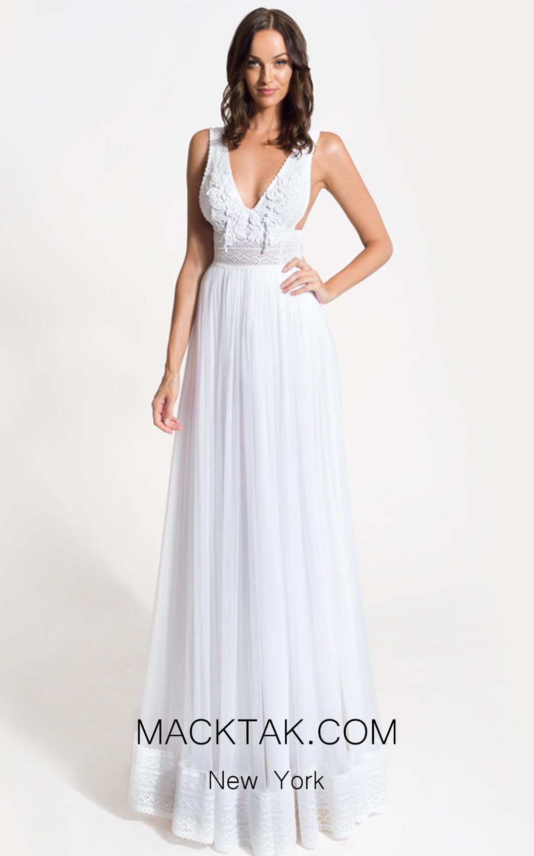Zolotas Atelier Urania Front Evening Dress