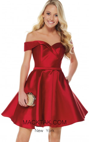 Alyce 1317 Red Front Evening Dress