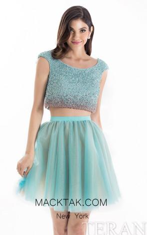 Terani 1521H0100A Mint Front Evening Dress
