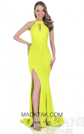 Terani 1612P0514 Chartreuse Dress