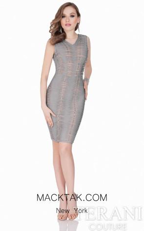Terani 1621C1256 Silver/Nude Dress