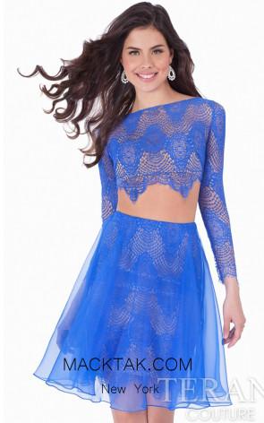 Terani 1621h1035A Royal Nude Front Evening Dress