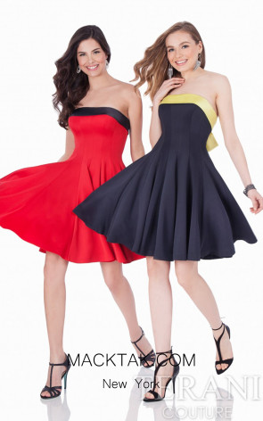 Terani 1621H1060 Red/Black Dress