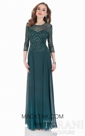Terani 1623M1860 Green Dress