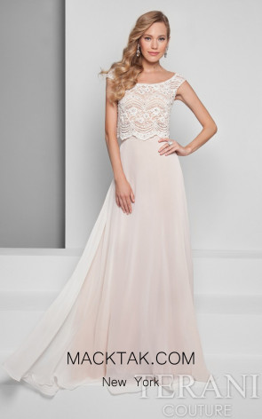 Terani 1711P2700 Ivory/Nude Front