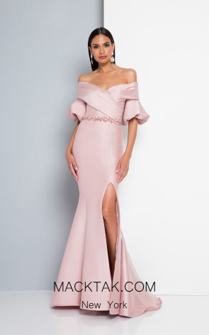 Terani 1811M6550 Rose Front Evening Dress