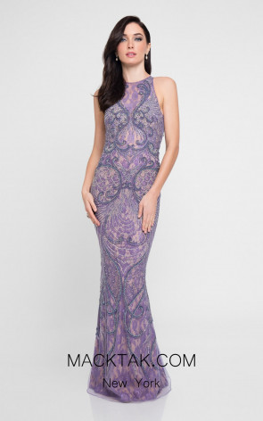 Terani 1812GL6497 Dusty Lavender Front Evening Dress