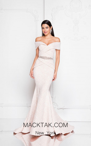 Terani 1812M6657 Blush Front Evening Dress