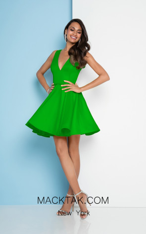 Terani Couture 1812P5140 Emerald Front Dress