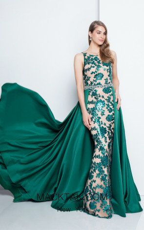 Terani 1812P5387 Emerald Nude Front