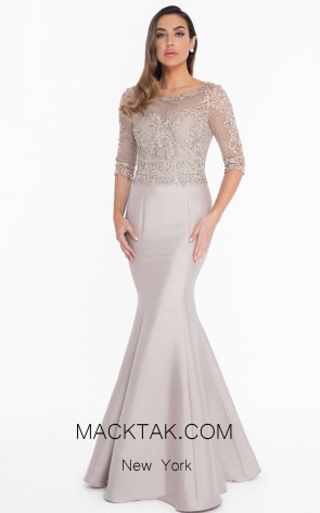 Terani 1821M7552 Champagne Front Evening Dress