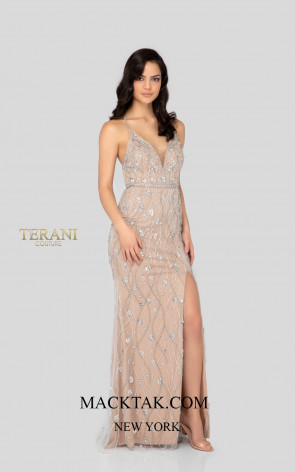 Terani 1911P8112 Blush Nude Front Dress
