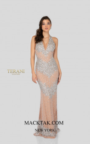 Terani 1911P8140 Crystal Nude Front Dress