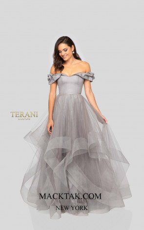 Terani 1911P8542 Platinium Front Dress