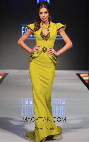 MNM Fouad Sarkis 2295 Lime Front Dress