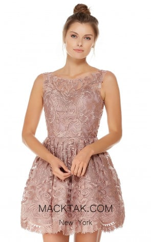 Alyce 3761 Rosewood Front Evening Dress