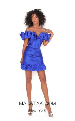 Tarik Ediz 50600 Royal Blue Front Dress