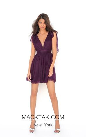 Tarik Ediz 50606 Purple Front Dress
