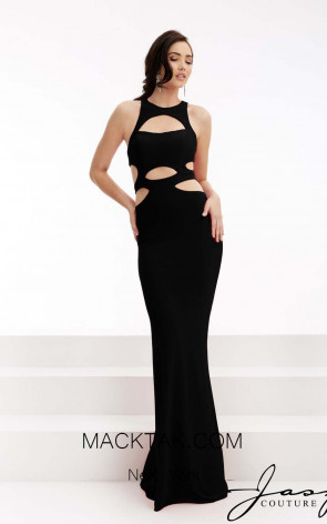 Jasz Couture 6047 Black Front Evening Dress