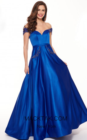 Rachel Allan 6579 Royal Blue Front