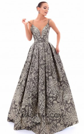 Tarik Ediz 93483 Front Evening Dress