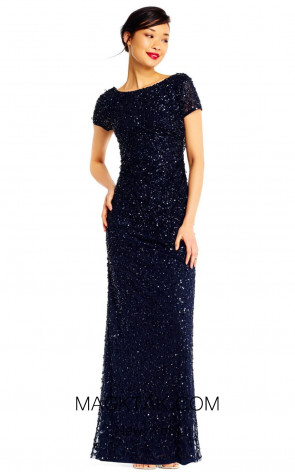 Adrianna Papell AP1E202166 Navy Front Dress