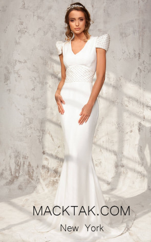 Aida Lorena Alexa Ivory Front Bridal Dress