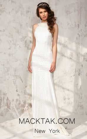 Aida Lorena Athena White Front Evening Dress
